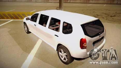 Dacia Duster Limuzina for GTA San Andreas back view