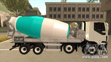 Hi-Land Concrete Mixer Truck Iveco for GTA San Andreas back left view