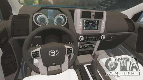 Toyota Land Cruiser Prado 150 for GTA 4 side view
