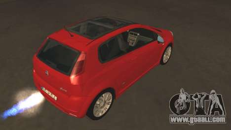 Fiat Grande Punto for GTA San Andreas back view