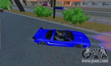 Infernus for GTA San Andreas left view
