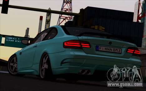 BMW M3 Hamann for GTA San Andreas back left view