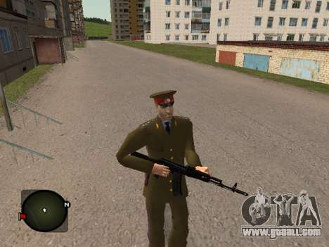 Major General Of The Russian Army for GTA San Andreas forth screenshot