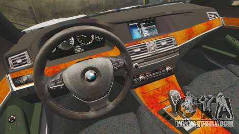 BMW M5 Croatian Police [ELS] for GTA 4 inner view