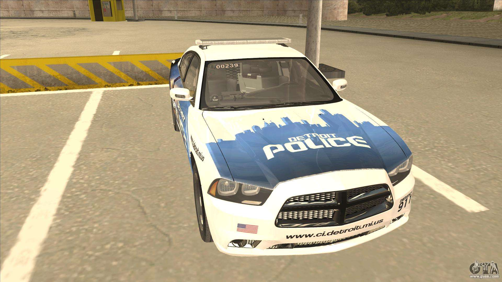 Dodge Charger Detroit Police 2013 For Gta San Andreas