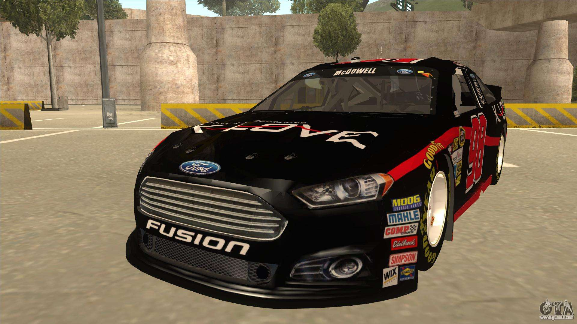 Ford Fusion Nascar No 98 K Love For Gta San Andreas