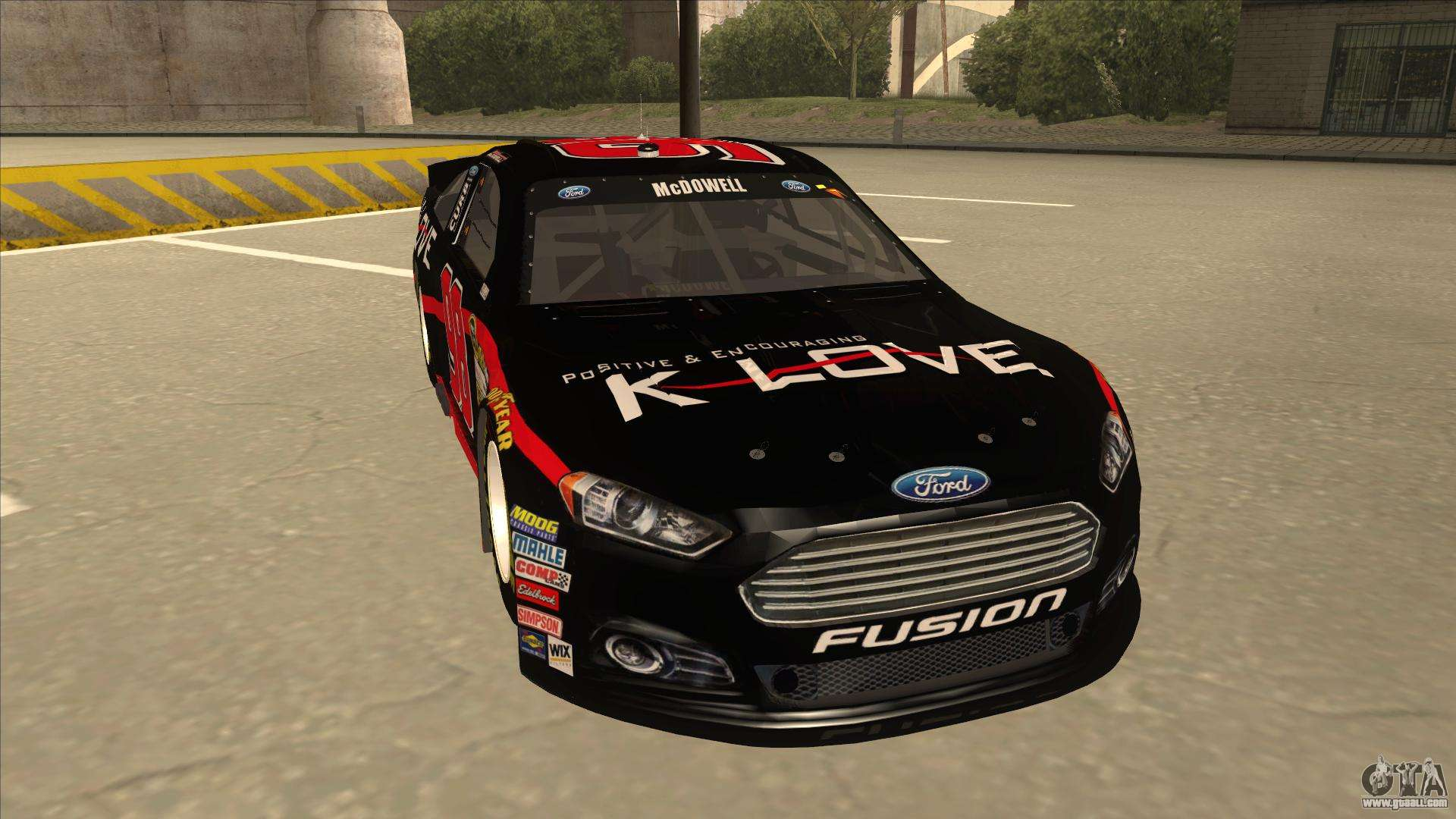 Ford Fusion Mods >> Ford Fusion NASCAR No. 98 K-LOVE for GTA San Andreas