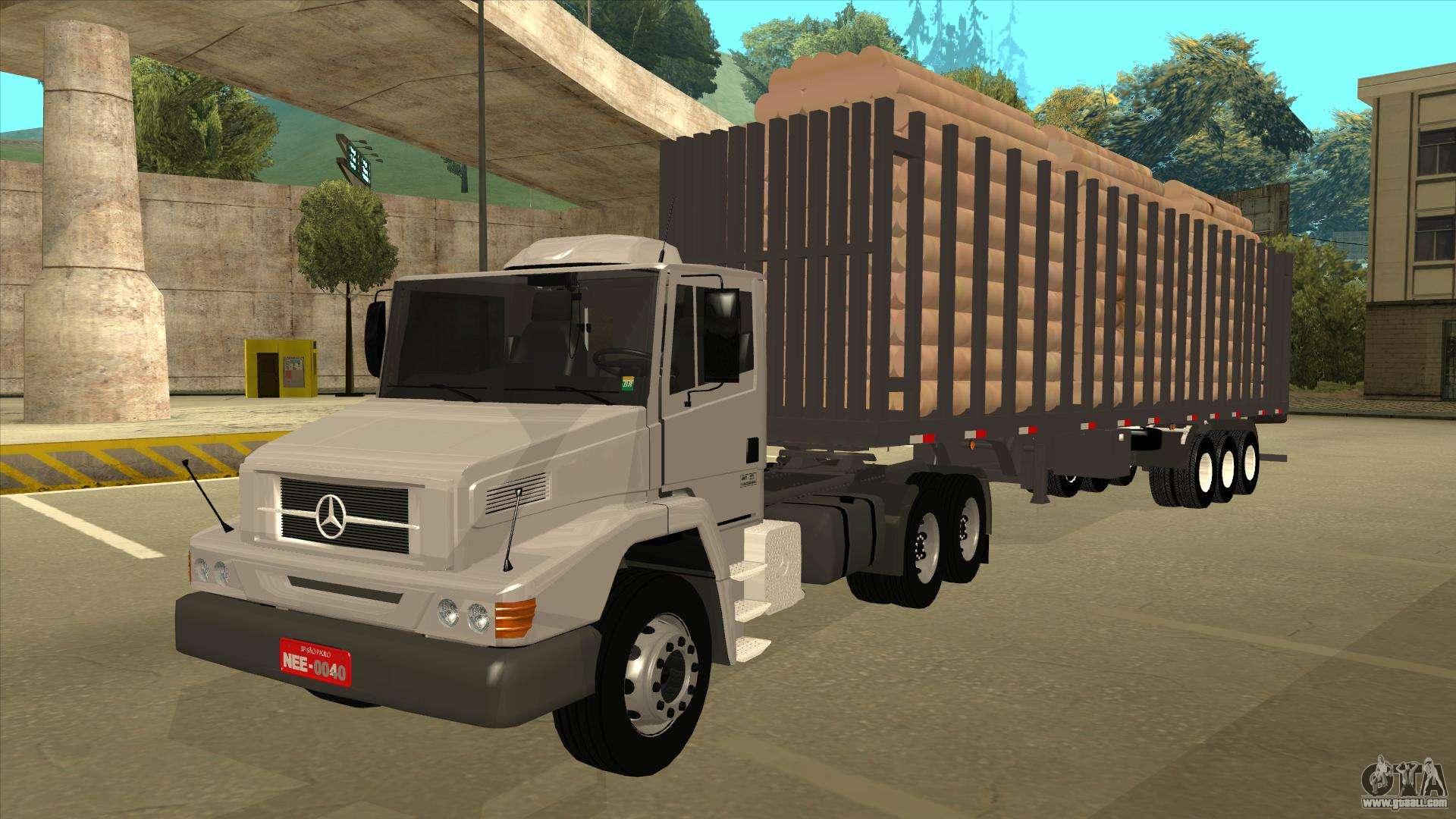 Semi Trailer For Mercedes Benz Ls 2638 For Gta San Andreas