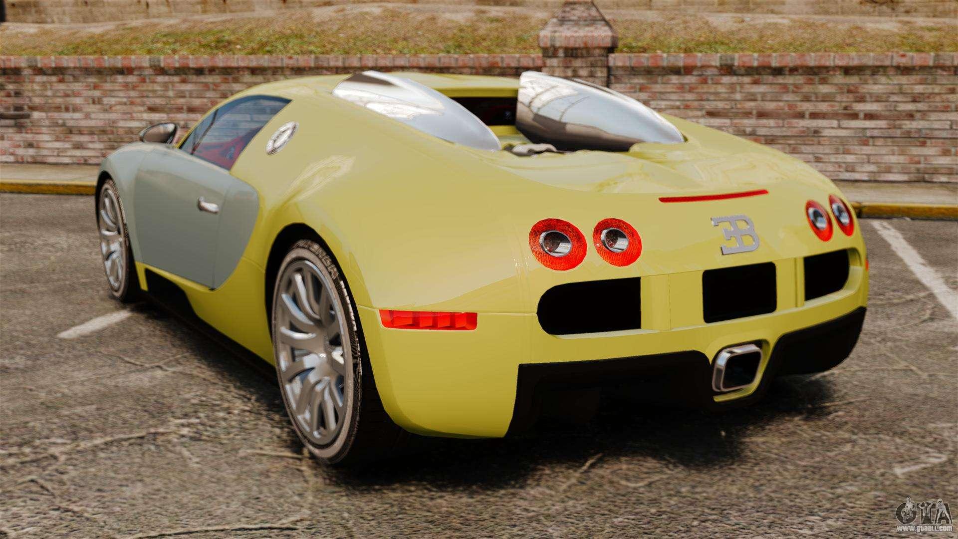 bugatti veyron gold centenaire 2009 for gta 4. Black Bedroom Furniture Sets. Home Design Ideas