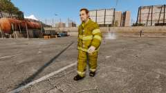 Yellow uniforms for fire fighters