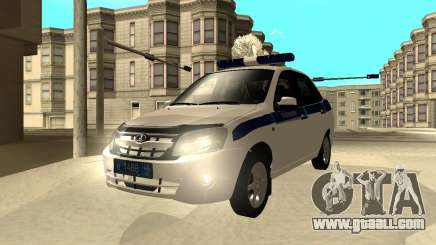 Lada Granta 2190 Police v 2.0 for GTA San Andreas