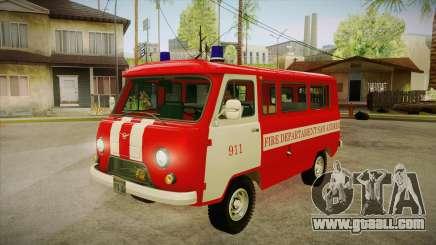 UAZ 452 Firefighter headquarters SA for GTA San Andreas