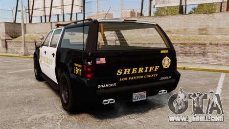 GTA V Declasse Granger Sheriff for GTA 4 back left view