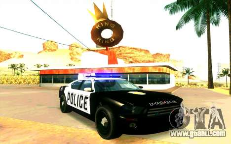Police Buffalo GTA V for GTA San Andreas back left view