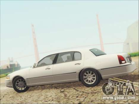 Lincoln Town Car 2010 for GTA San Andreas upper view