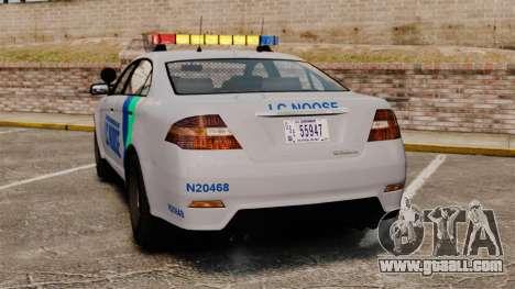 GTA V Vapid Police Stanier Interceptor [ELS] for GTA 4 back left view