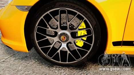 Porsche 911 Turbo 2014 [EPM] Turbo Side Stripes for GTA 4 back view