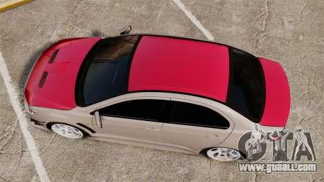 Mitsubishi Lancer Evolution X GSR 2008 for GTA 4 right view
