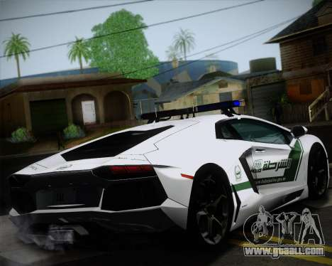 Lamborghini Aventador LP700-4 2012 RCPD V1.0 for GTA San Andreas back view