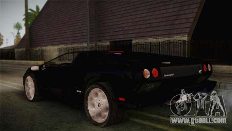 Lamborghini Diablo VT6.0 for GTA San Andreas left view