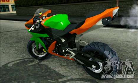 Yamaha R15 for GTA San Andreas back left view