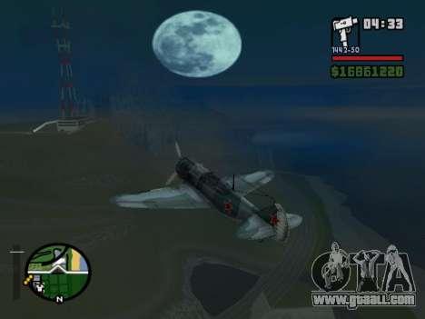 LA-5 for GTA San Andreas back left view