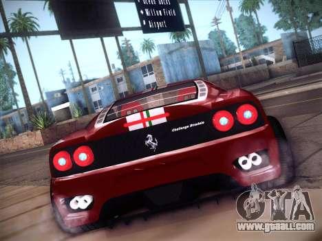 Ferrari 360 Challenge Stradale for GTA San Andreas right view