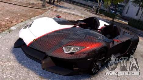 Lamborghini Aventador J 2012 Carbon for GTA 4