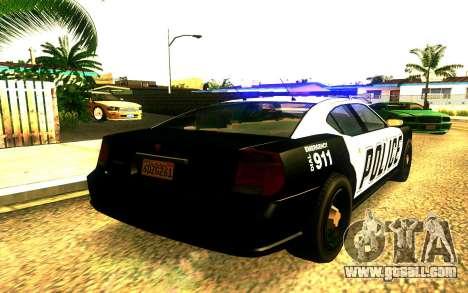 Police Buffalo GTA V for GTA San Andreas left view