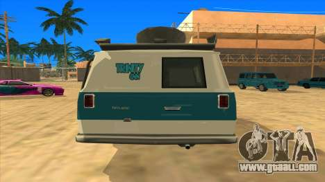 News Van HQ for GTA San Andreas back left view