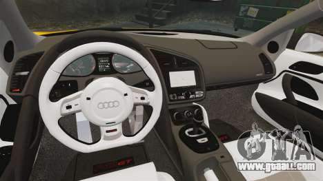 Audi R8 GT Spyder for GTA 4 inner view