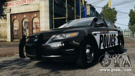 Ford Taurus Police Interceptor 2010 for GTA 4