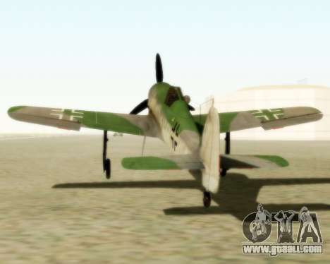 Focke-Wulf FW-190 D12 for GTA San Andreas back left view