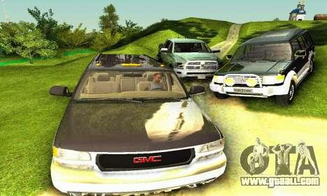 GMC Yukon XL 2003 for GTA San Andreas back view