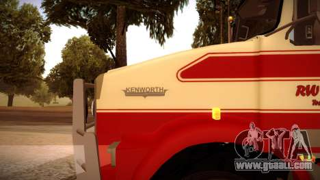 Kenworth RoadTrain T800 for GTA San Andreas left view