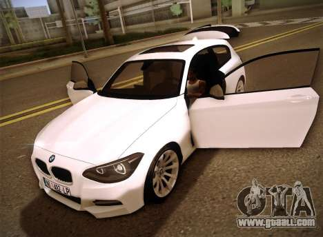 BMW M135i for GTA San Andreas upper view