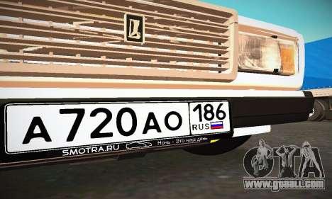 VAZ 2107 BUNKER for GTA San Andreas upper view
