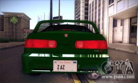 Honda Integra Normal Driving for GTA San Andreas right view
