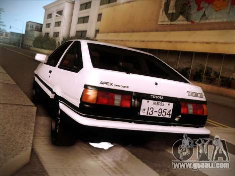Toyota Trueno AE86 Initial D 4th Stage for GTA San Andreas right view
