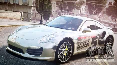 Porsche 911 Turbo 2014 for GTA 4 back view