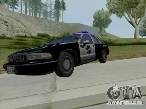Chevrolet Caprice SFPD 1991 for GTA San Andreas upper view