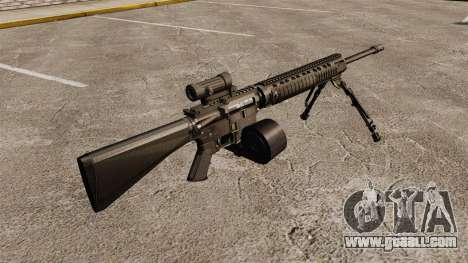 Assault rifle M16A4 C-MAG Scope for GTA 4 second screenshot