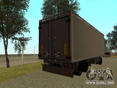 Trailer for Kamaz 54115 for GTA San Andreas back left view