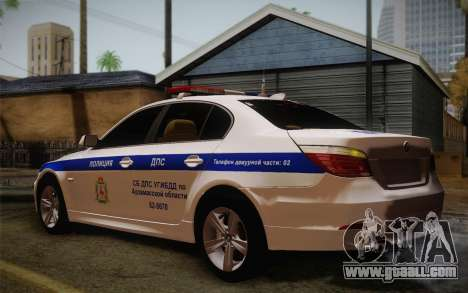 BMW 530xd DPS for GTA San Andreas right view