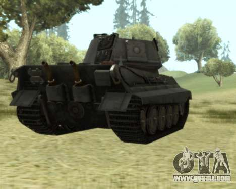 PzKpfw VIB Tiger II for GTA San Andreas back view