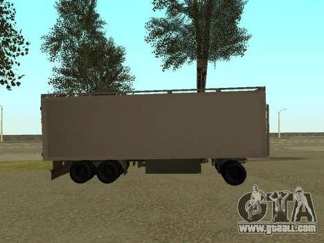 Trailer for Kamaz 54115 for GTA San Andreas left view