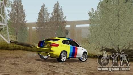 BMW X6M for GTA San Andreas interior