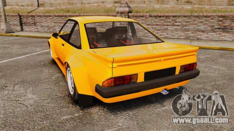 Opel Manta for GTA 4 back left view