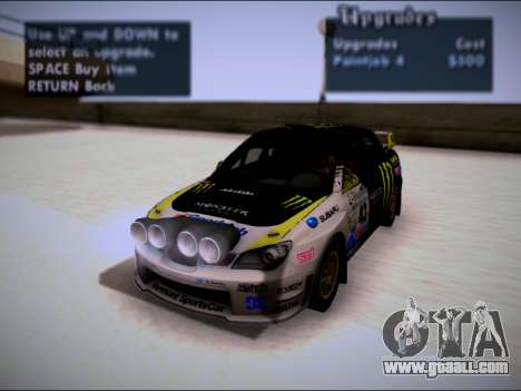 Subaru Impreza WRX STI WRC for GTA San Andreas side view