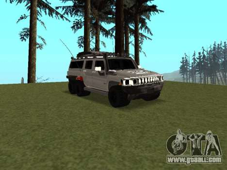 Hummer H3 6x6 for GTA San Andreas inner view